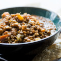 LENTIL CHILI WITH SWEET POTATOES