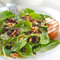 spinach and pear salad with dijon mustard vinaigrette
